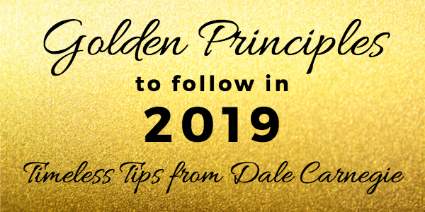 January 2019 Gathering – Golden Principles to follow in 2019
