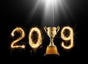 2019 Award winners with trophy