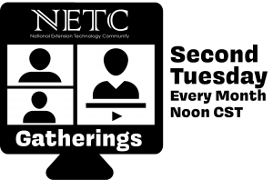 NETC Gatherings - Second Tuesday ever month noon CST