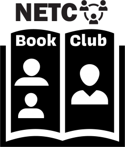 NETC Book club - book icon with peopole on the pages