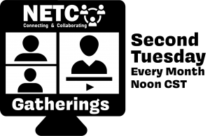NETC Gathering logo second tuesday of every month noon cst