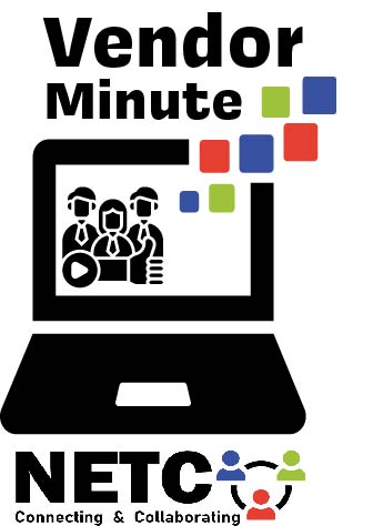 NETC vendor minute logo with laptop and people